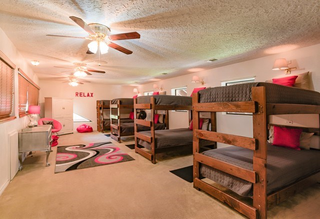 'Girls' Bunk room on second level